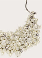Pearl Crystal Bib Necklace, Off White, hi-res