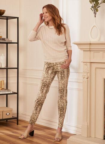 Snake Print Slim Leg Jeans, Off White,  jeans, slim leg, pockets, snake print, spring summer 2020