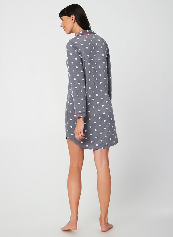 Comfort & Co. - Long Sleeve Nightshirt, Grey