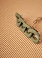 Barrette en résine avec détails de ruban, Vert