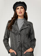 Herringbone Knit Cardigan, Black, hi-res