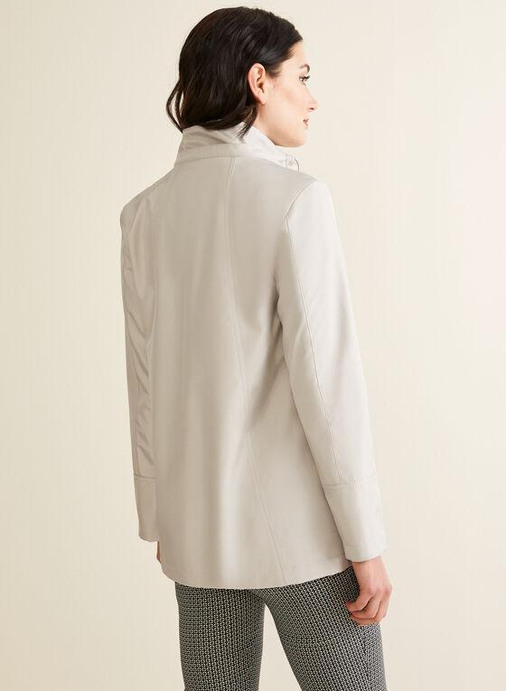 Manteau imperméable à capuchon, Blanc cassé