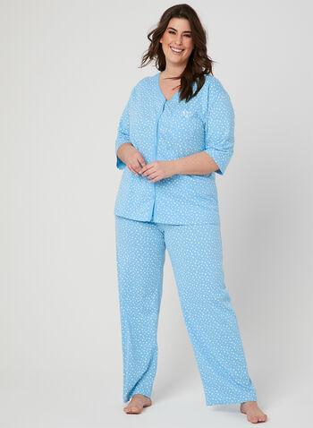 Bellina - Pyjama deux pièces étoilé , Bleu, hi-res