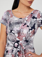 Floral Print Midi Dress, Purple, hi-res