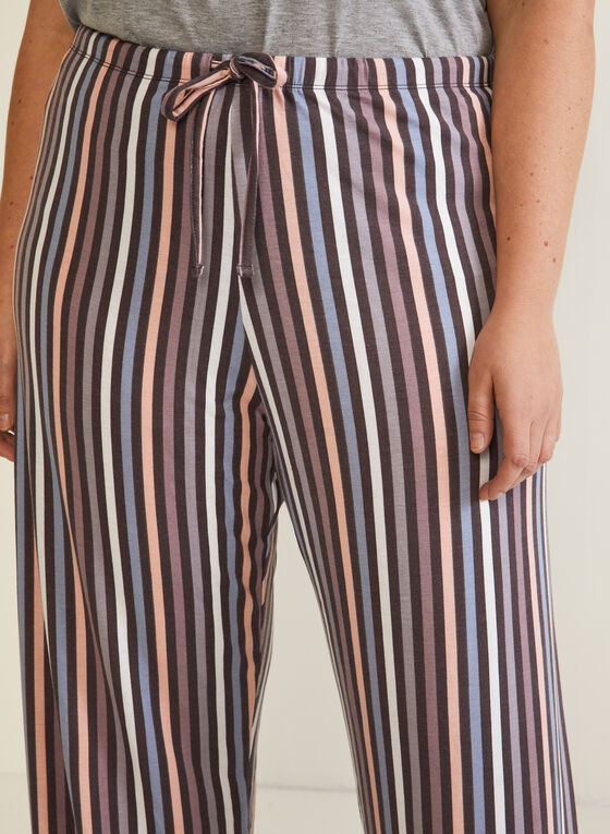 Abstract Print Pyjama Pants, Brown