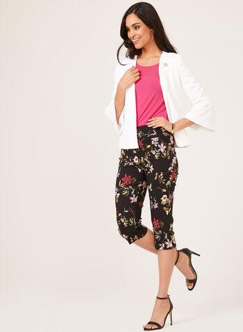 Chiffon Jersey Combo Blouse, Pink, hi-res