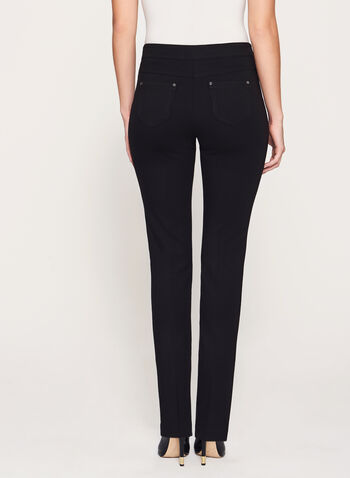 Modern Fit Slim Leg Ponte Pants, , hi-res