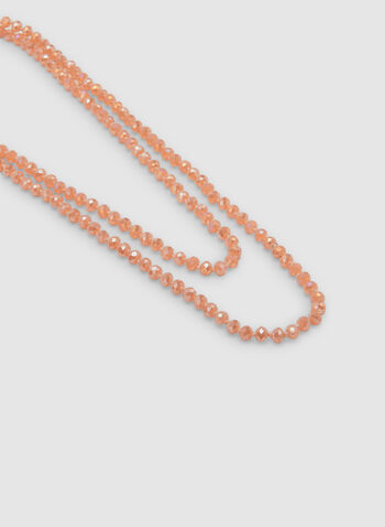 Multi-Row Beaded Necklace, Orange, hi-res,  necklace, beads, spring 2019, summer 2019