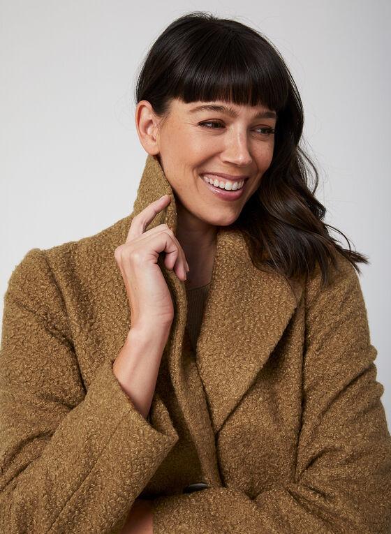 Portrait - Bouclé Wool-Like Coat, Brown
