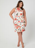 Floral Print Tiered Dress, Pink, hi-res