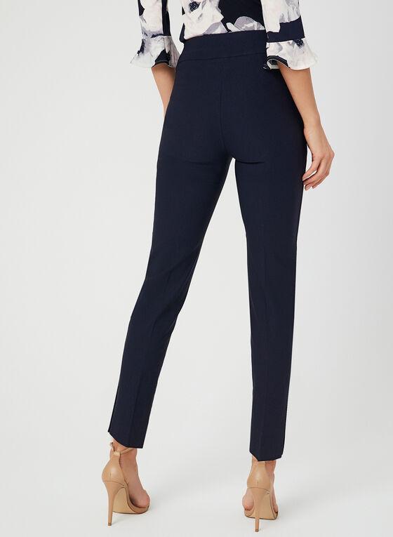 Pantalon coupe moderne à jambe étroite, Bleu