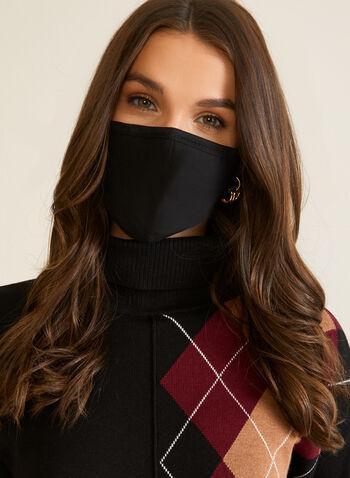 Set of 2 Masks, Black,  masks, cotton, adjustable, filter, set, fall winter 2020