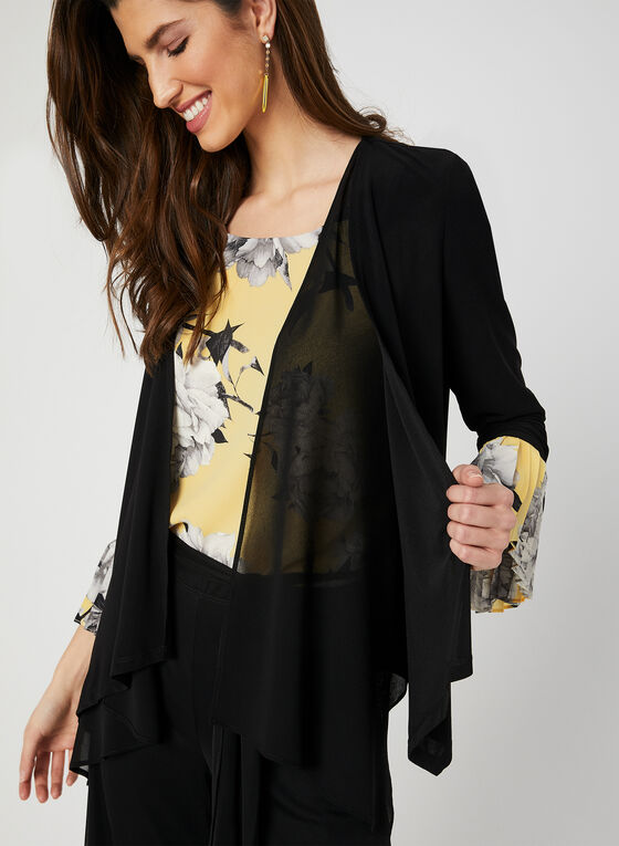 Cascading Open Front Top, Black