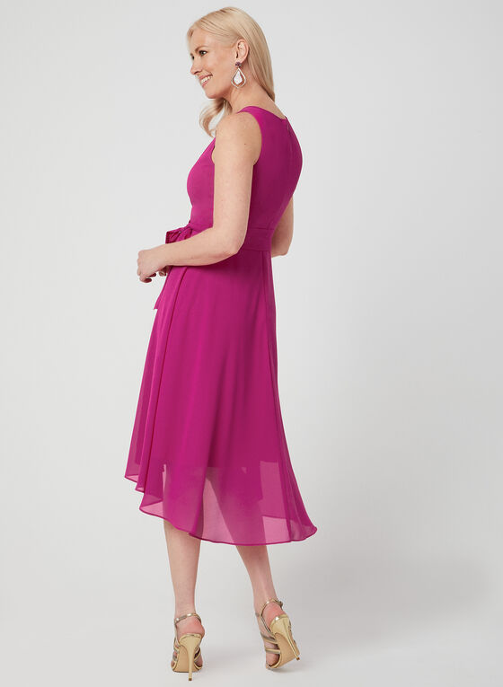 Jessica Howard – High-Low Chiffon Dress, Pink, hi-res