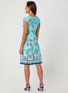Sandra Darren - Robe à imprimé floral, Bleu, hi-res