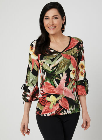 Tropical Print Top, Multi, hi-res