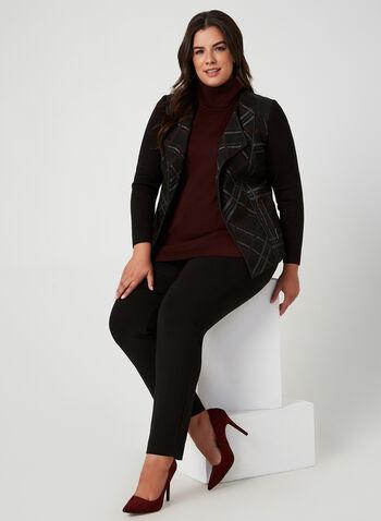 Plaid Print Blazer, Black, hi-res,  fall winter 2019, plaid print, jacket, long sleeves