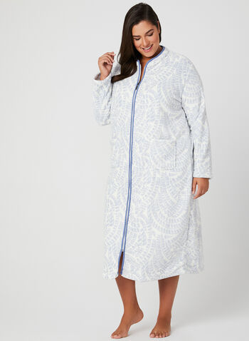 Claudel Lingerie - Fleece Nightgown, Off White, hi-res