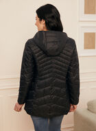 Manteau léger en duvet éthique, Noir