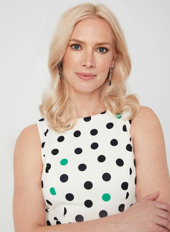 Jessica Howard - Robe ajustée évasée à pois, Blanc, hi-res