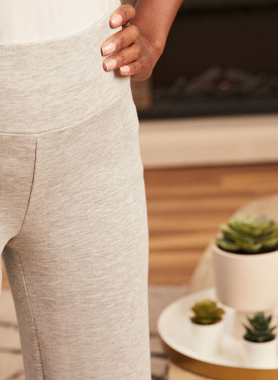 Cropped Pull-On Pants, Grey