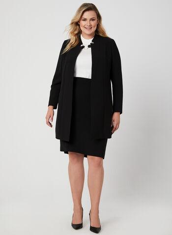 Straight Skirt, Black, hi-res,  skirt, straight, back slit, fall 2019, winter 2019