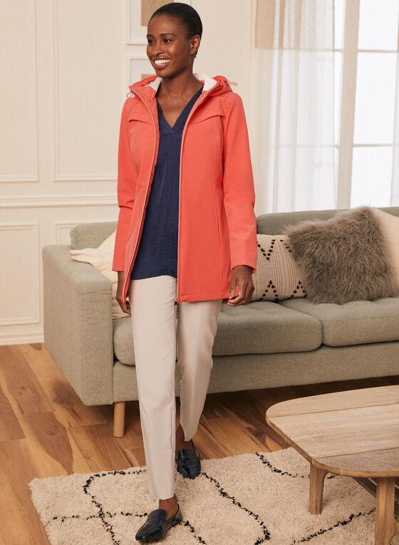 Novelti - Manteau zippé à capuchon, Orange