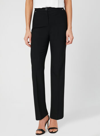 Pantalon coupe signature à jambe droite, Noir, hi-res,