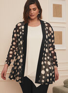 Dotted Print Mesh Cover-Up, Black