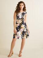 Sleeveless Floral Dress, Blue