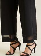 Pantalon jambe large à enfiler, Noir