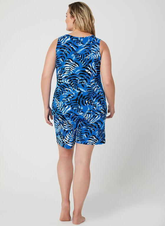 Hamilton - Pyjama 2 pièces motif tropical , Bleu, hi-res