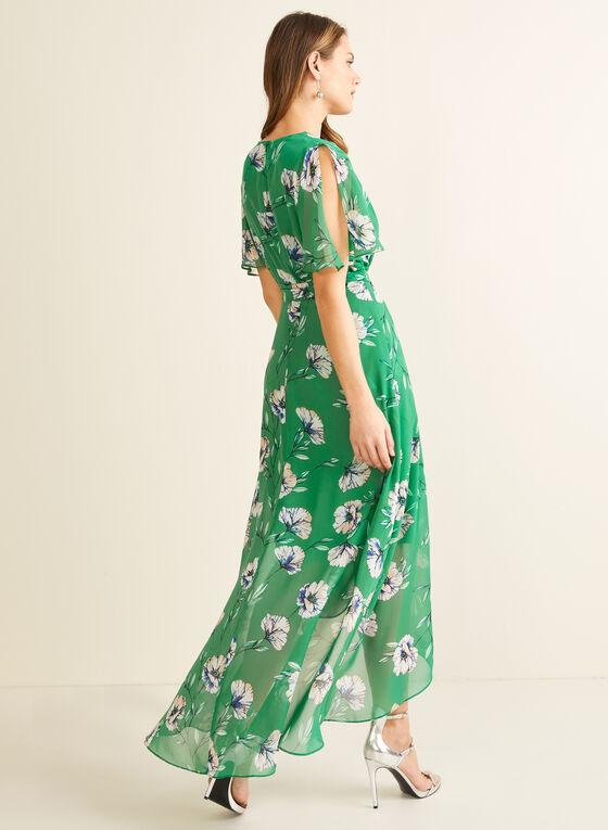 Floral Print Maxi Dress, Green
