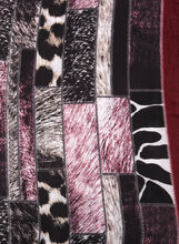 Animal Print Oblong Scarf, Red, hi-res