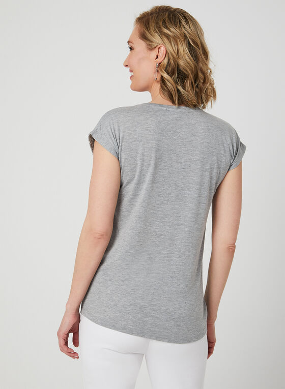 Ness - Illusion Neck T-Shirt, Grey