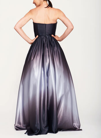 Ombré High-Low Satin Ball Gown, , hi-res