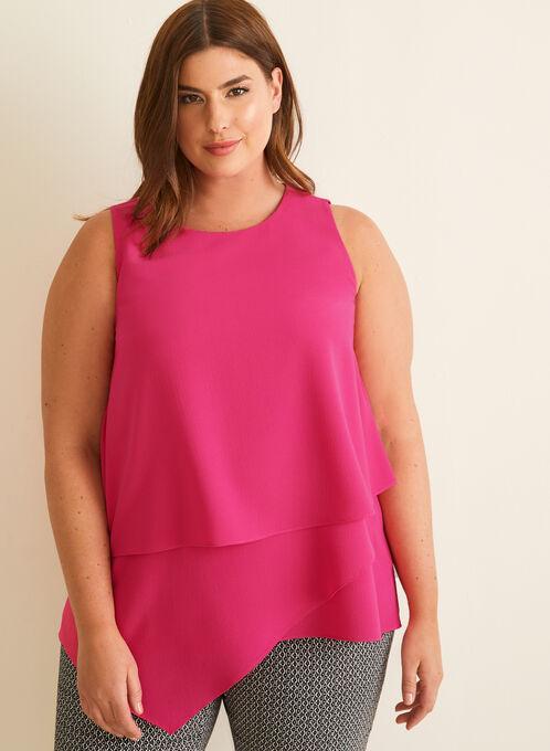 Crepe Sleeveless Blouse, Pink