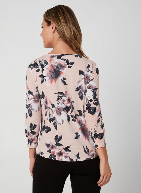 3/4 Sleeve Jersey Top, Multi, hi-res