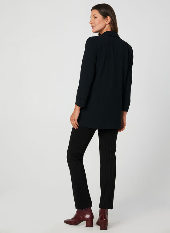 Long Crepe Blazer, Black