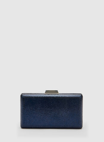 Glitter Box Clutch, Blue, hi-res