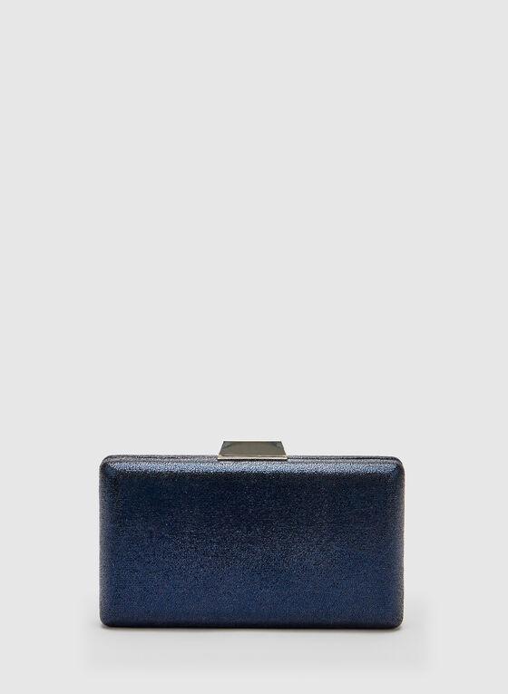Glitter Box Clutch, Blue, hi-res