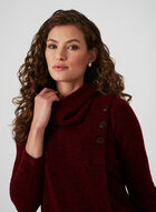 Textured Knit Top, Red