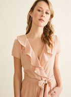 Ruffle Detail Jumpsuit, Pink