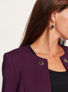 Long Open Front Ponte Jacket , Purple, hi-res