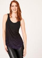 Scoop Neck Sequin Camisole, Purple, hi-res