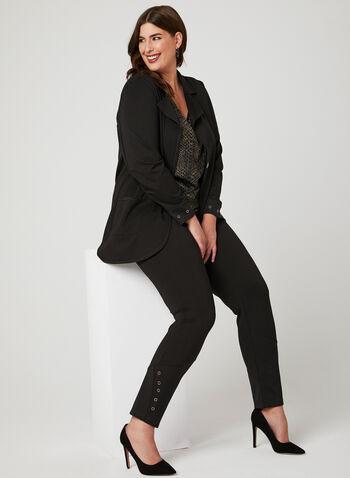 Picadilly - Pantalon coupe signature à œillets, Noir, hi-res