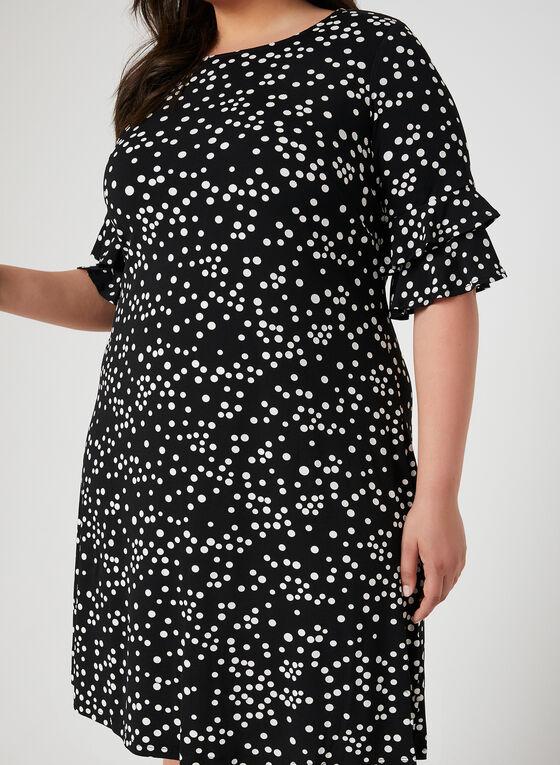 Robe texturée à pois, Noir