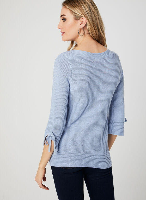 Lurex Knit Sweater, Blue, hi-res