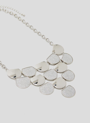 Disc Bib Necklace, Silver, hi-res
