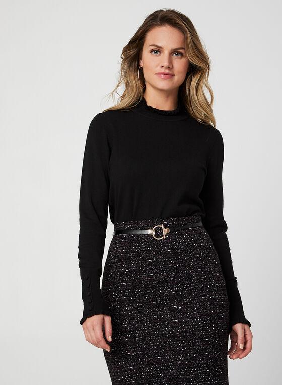 Mock Neck Sweater, Black, hi-res